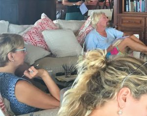 Kim Seeling Smith and Sir Richard Branson at Necker Island 2016
