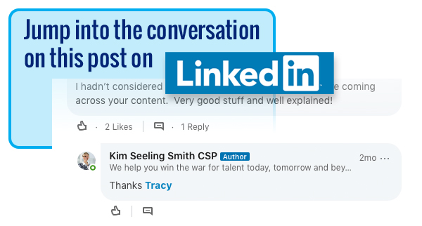 Follow the comments on Kim's LinkedIn post