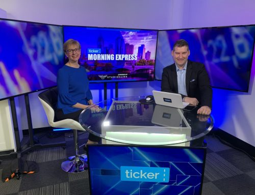 Kim on Ticker TV talking about the future of work!