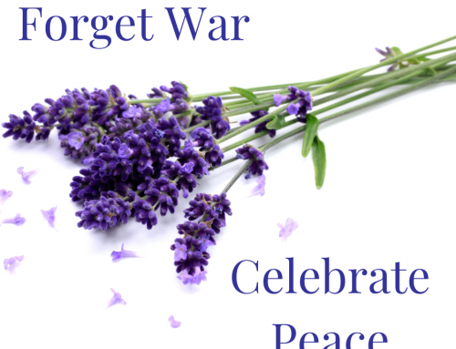 Forget war – celebrate peace