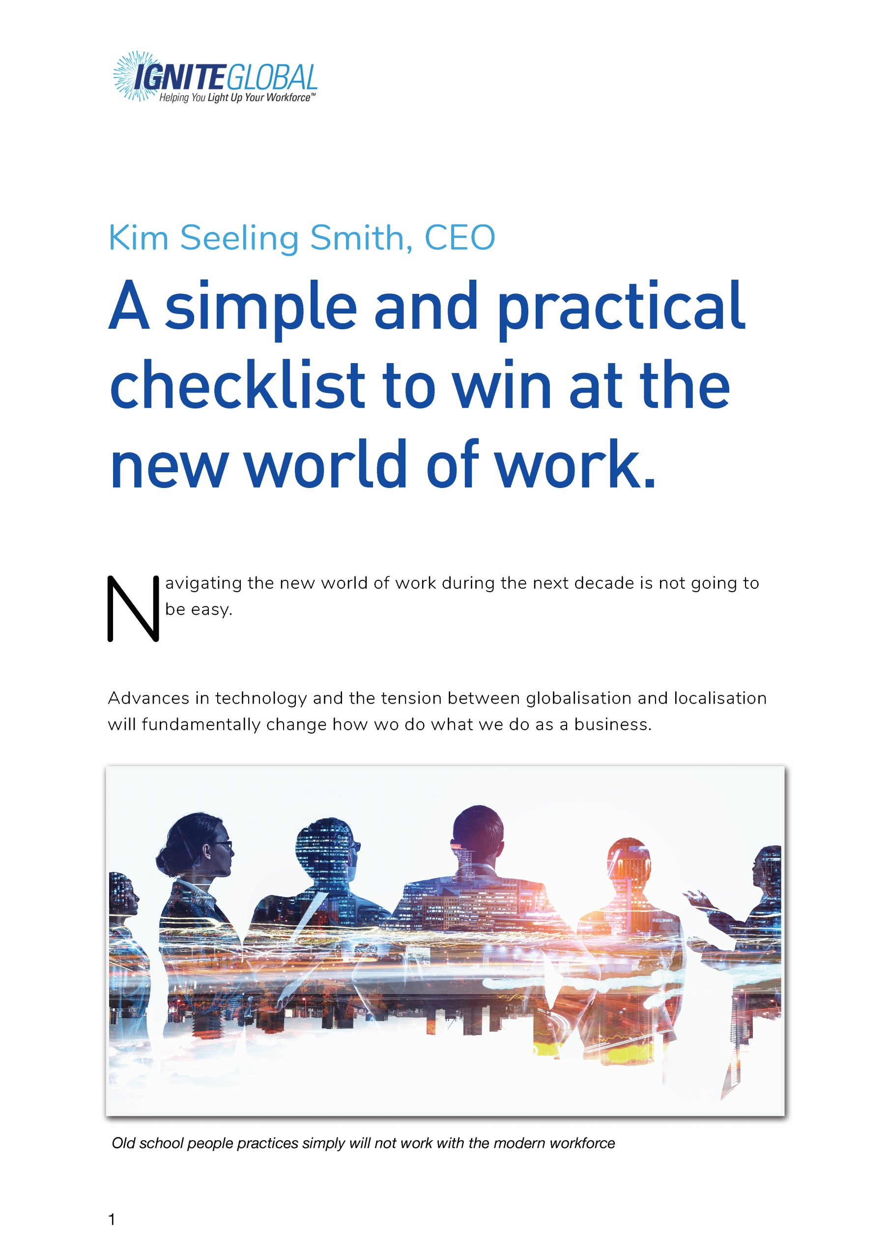 A simple and practical checklist to win at the new world of work FREE DOWNLOAD